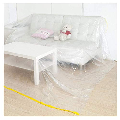 TongN Sofa Dust Cover Moving or Storing Living Room Sofa Gray Cover Cloth Can Protect Furniture White