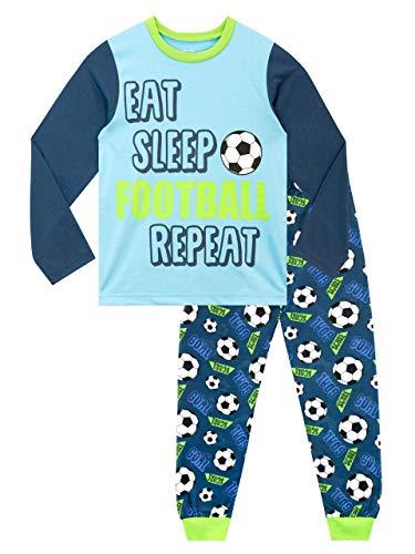 Harry Bear Jungen Schlafanzug Fußball Blau 158