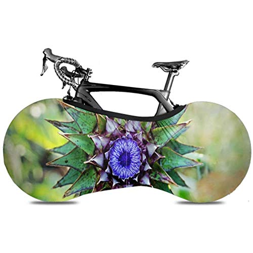 Ogden Moll Distelsymbol Schottland Blühender Schmuck Mountainbike Radabdeckung Faltbare Fahrradabdeckung Fahrradlenkradabdeckung Hält Böden Und Wände Schmutzfrei