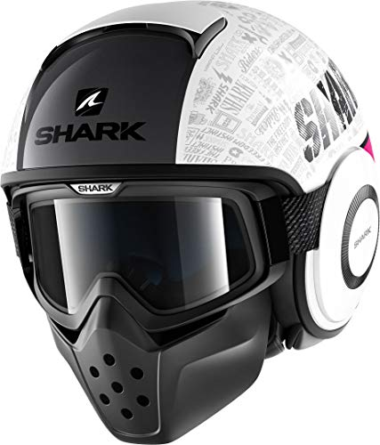 Shark casco de moto Drak Tribute RM WVS, color blanco, talla