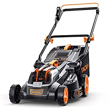 TACKLIFE Cordless Lawn Mower 16-Inch 36V Brushless Lawn Mower 4.0Ah Battery 6 Mowing Heights 3 Operation Heights 98% Clean Cutting Rate 40L Grass Box