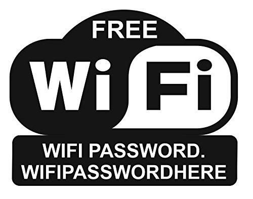 Gratis Wifi Sticker. GePERSONALISEERD met Wifi Wachtwoord. Wifi Password Sticker