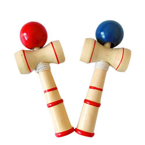 Daxoon Wooden Kendama Toy 12CM Stress Relief Ball Trap Game para niños Adultos Deportes al Aire Libre Color Aleatorio