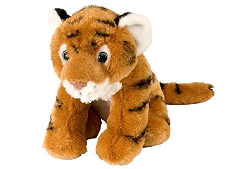 Wild Republic 10850 Plüsch Tiger Baby, Cuddlekins Kuscheltier, Plüschtier, 20cm, braun