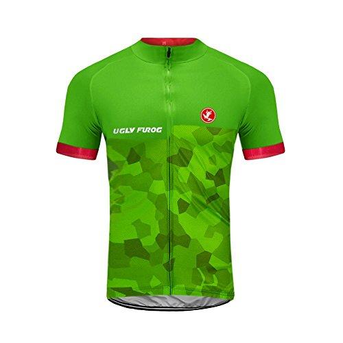 UGLY FROG Ciclismo Jersey Bicchierino della Jersey della Bicicletta dei Bicchierini della Maglia del Bicchierino della Maglia Jersey della Jersey MTB Tutto Verde di Estate DXC23