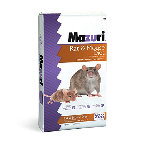 Mazuri Rodent | Nutritionally Complete Rat and Mouse Food | Amonia-Reduction Formula - 25 Pound (25 lb) Bag