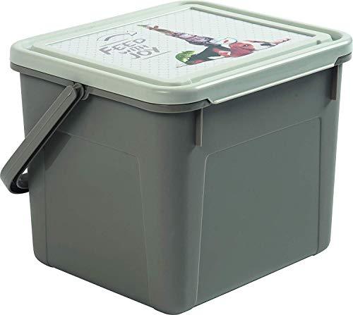 Rotho Fabio Tierfutterbox 4.5l mit Deckel und Henkel, Kunststoff (PP) BPA-frei, anthrazit/motiv, 4,5l (21,0 x 20,0 x 18,0 cm)
