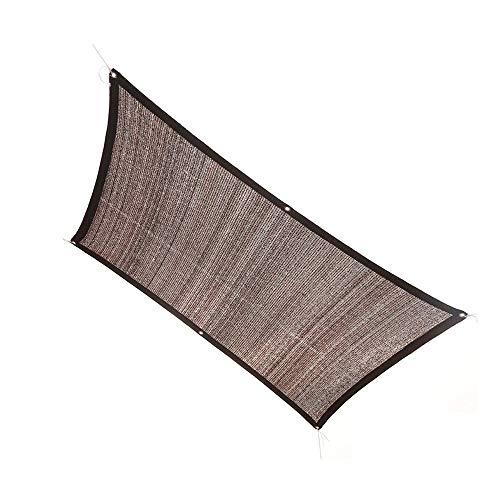 Qdesign Sun Red 96% de Sombra UV Bloque toldo Capota Parasol con Cuerdas, for el jardín Balcón Patio del pabellón al Aire Libre, Brown (Size : 4x5m)