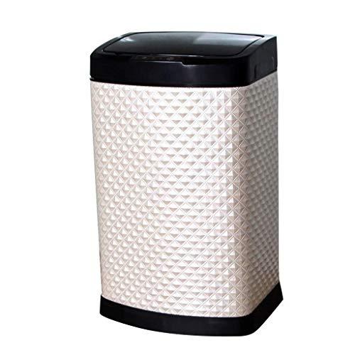 Yxsd Cubo de basura – Inducción eléctrica inteligente, inducción rápida 0,3 segundos, adecuado para la sala de estar (color: B, tamaño: 12L)