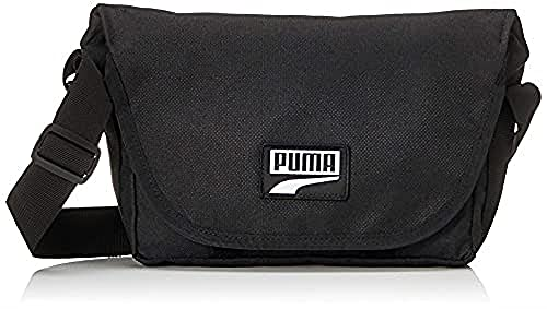 PUMA Deck Mini Messenger Mochilla, Unisex Adulto, Black, OSFA