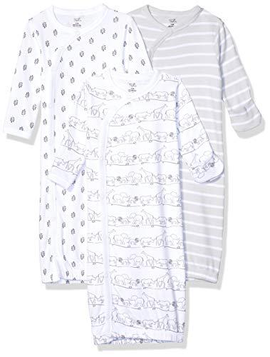 Touched by Nature - Kimono de algodón orgánico para bebé, Safari 3 Pack, 0-6 Meses