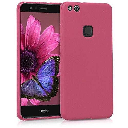 kwmobile Cover per Huawei P10 Lite - Custodia in Silicone TPU - Backcover Protezione Posteriore- Fucsia Matt