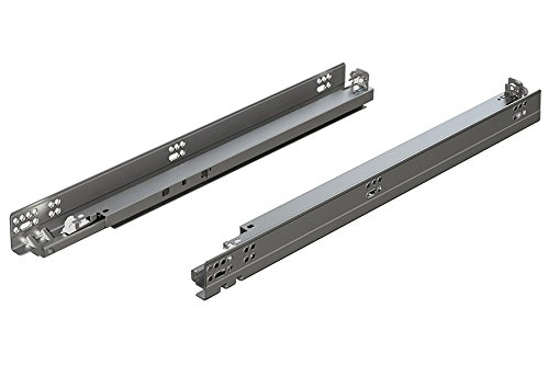 "BLUM 563H5330B Tandem Plus Blumotion 21"" Drawer Runner Pair for Face Frame, Silver"