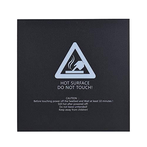 1 st 300 300 mm självhäftande värmebandtejpklistermärke Bygg ytaöverdrag fyrkantigt ark svart 3D-skrivare Delhett sängyta