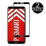 TECHKUN Panzerglas Schutzfolie für Huawei P Smart Ultra-Klar,9H Festigkeit,Anti-Fingerabdruck,Anti-Bläschen,Bildschirmschutzfolie für Huawei P Smart [2 Stück]