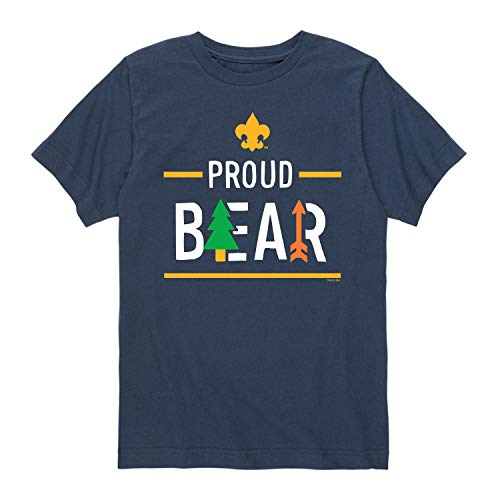 Boy Scouts of America Icon Bear Cub Scout - Youth Short Sleeve Graphic T-Shirt Navy