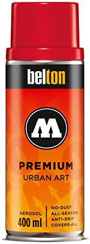 Molotow Belton Premium Artist Spray Paint, 400ml Can, Tornado Red, 1 Each (327.098)