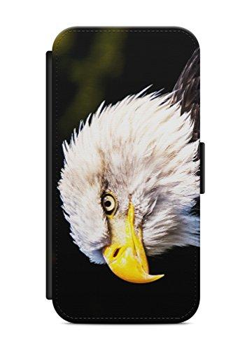 aina Kompatibel mit Huawei P10 Lite Flipcase Handytasche Hülle mit Magnetverschluss auffklappbar Adler Motiv Bild