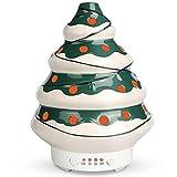Humidificador Aceites Esenciales de Cerámica, SALKING 90ml Difusor de Aceites Esenciales Ultrasónico,Difusor de Aromaterapia con LED de 7 Colores y 4 Temporizadores,para el Hogar,Regalos de Navidadar