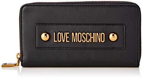 Love Moschino Jc5604pp1a, Portafoglio Donna, Nero (Nero), 2x10x19 cm (W x H x L)
