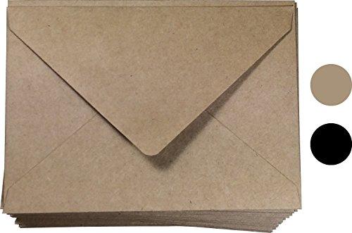"A1 Envelope Kraft (4bar Envelopes) Fit 3.5 x 5 Card| A1 Size 100 Pcs, 3-5/8"" X 5-1/8"" Inches, Wedding Invitation | Natural Brown Envelope | RSVP Envelopes"