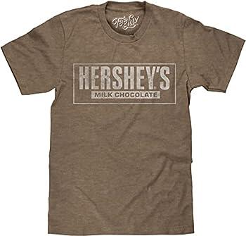 Tee Luv Faded Hershey s T-Shirt - Hersheys Milk Chocolate Logo Shirt  Brown Heather   M