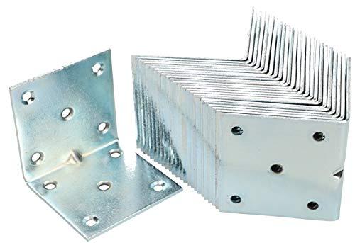 KOTARBAU Winkelverbinder 60 x 60 x 60 mm Sicke Stahl Bauwinkel Montagelöcher Möbelwinkel Verzinkt Schwerlast Holzverbinder Montagewinkel Stuhlwinkel (50)