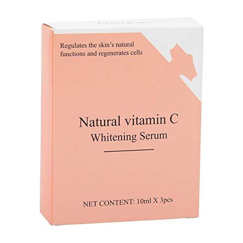 Suero de esencia de cuidado de la piel de la cara 3pcs, blanqueamiento natural de vitamina C para hidratación facial, desvanecimiento oscuro