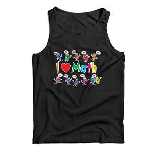 lepni.me Camisetas de Tirantes para Hombre Amo Las matemáticas, el Regalo Educativo de Regreso a la Escuela o la graduación (XXXX-Large Blanco Multicolor)