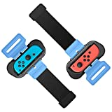 Wrist Bands for Just Dance 2021 2020 2019 and Zumba Burn It Up for Nintendo Switch Controller Game, Adjustable Elastic Strap for Joy-Cons Controller, Two Size for Adults and Children, 2 Pack (Black)