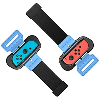 Wrist Bands for Just Dance 2021 2020 2019 and Zumba Burn It Up Compatible with Joy-Cons & OLED Model Controller Adjustable Elastic Strap Two Size for Adults and Children 2 Pack