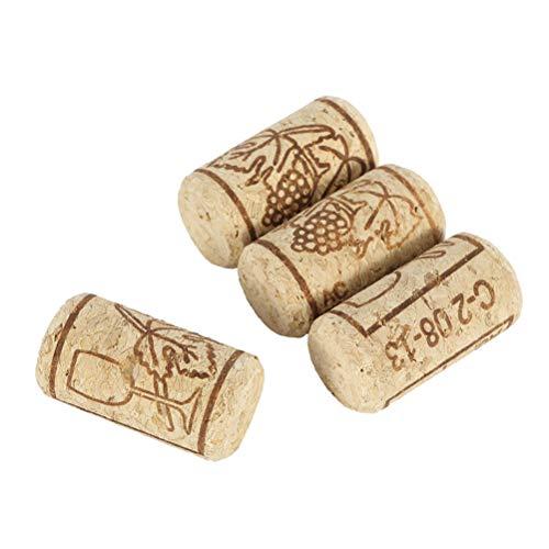 Yissma 100 nieuwe wijnkurken - knutselkurk in karton - kurken - ook voor het verkuren van wijn of decoreren, creatief, doe-het-zelf en knutselen - flessenkurk als knutselaccessoire in 20 mm x 40 mm