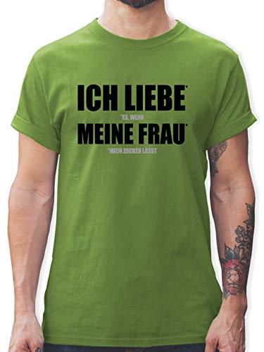 Nerds & Geeks - Ich Liebe Meine Frau - XXL - Hellgrün - zocker Shirt - L190 - Tshirt Herren und Männer T-Shirts