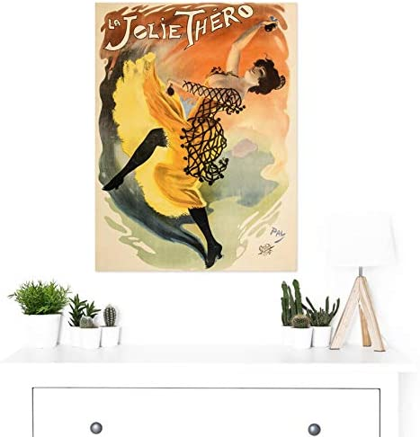 Pal Jolie Thero Flamenco Dancer Show Advert Large Canvas Art Print