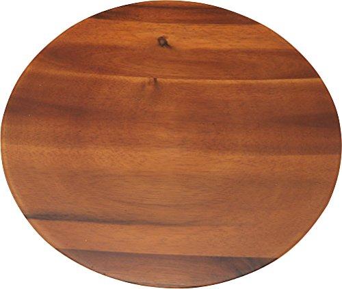 丸和貿易 アカシア 丸トレー ブラウン 30cm 1003808-02