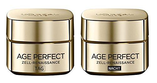 L'Oréal Paris Age Perfect Zell-Renaissance Tag- und Nachtcreme, je 50 ml/ Regenerierende Gesichtspflege für reife Haut