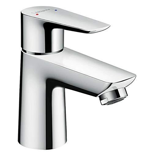 hansgrohe Wasserhahn Talis E (Armatur mit Auslauf Höhe 80mm und Push-Open Ablaufgarnitur) Chrom