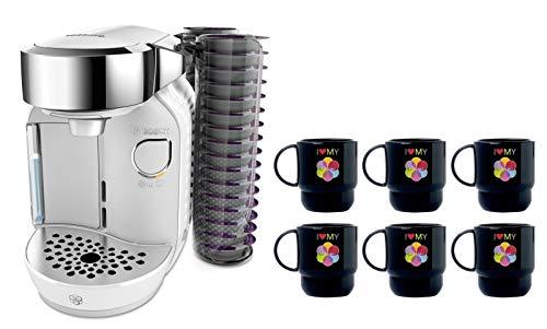 Bosch TASSIMO Caddy T70 + 6x Tupper Becher Kaffee Maschine (Weiß)