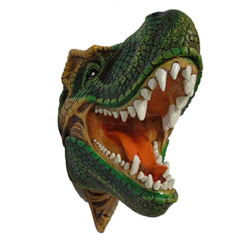 MAMINGBO Dinosaur Head Sculpture - Animal Head Wall Hanging Trophy Wall Sculpture Resin Wall Decor Home Head Craft Gift