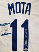 Manny Mota Autographed Signed 2X Wsc Los Angeles Dodgers Jersey (Size XL) Autographed Signed Beckett BAS COA