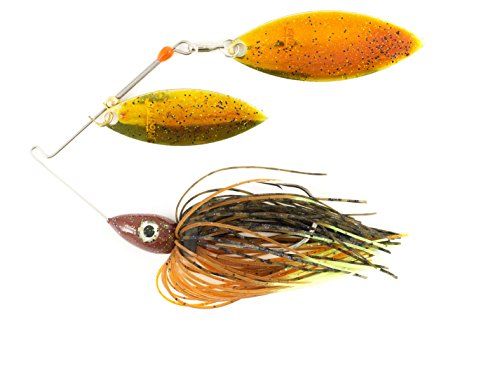 Nichols Lures Pulsator Metal Flake Double Willow Spinnerbait, Bluegill, 1/2-Ounce