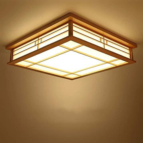 LIUTIAN Estilo japonés lámpara del Techo, lámpara de Madera Maciza de LED, lámpara de Tatami, Sala de Estar Dormitorio 35x35x10cm Estilo Lámpara de Corea, luz Caliente [Ahorro de energía Clase A]