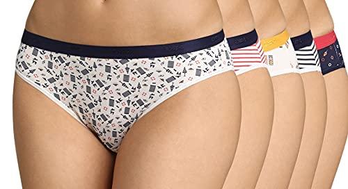 Dim Slip Les Pockets Coton X5 Cierre, Multicolor (Pack Daisy Colors), 40 5 para Mujer
