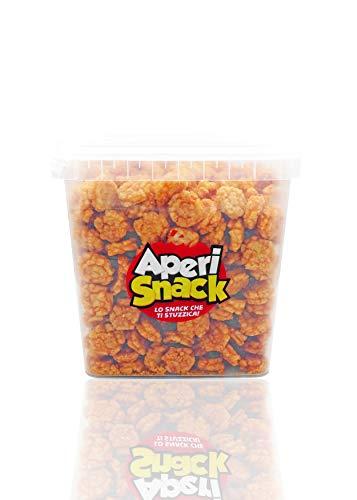 APERI SNACK Aperisnack - AP04.005.03 Rice Cracker Piccanti Secchiello Large Salva freschezza da 1200gr. Snacks di Riso piccanti Ideali Come stuzzichini salati per aperitivo veloci ed economici