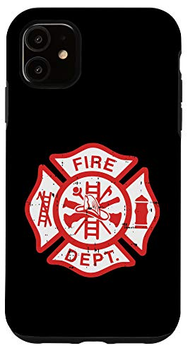 iPhone 11 Fire Dept Logo Hero Appreciation Firefighter Fireman Gift Case