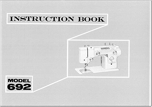 Find Discount for Janome Spare Part 692 Sewing Machine Owners Instruction Manual