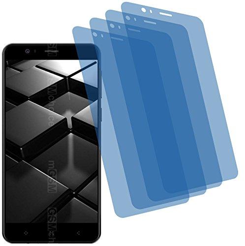 4ProTec I 4X Crystal Clear klar Schutzfolie für Elephone P8 Mini Premium Bildschirmschutzfolie Displayschutzfolie Schutzhülle Bildschirmschutz Bildschirmfolie Folie