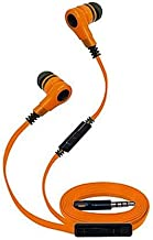 Super High Clarity 3.5mm Stereo Earbuds/Headphone Compatible with iPod Touch (2019), iPod Touch (6th 5th 4th 3rd 2nd Generation), Nano (Orange) - w/Mic & Volume Control + MND Stylus