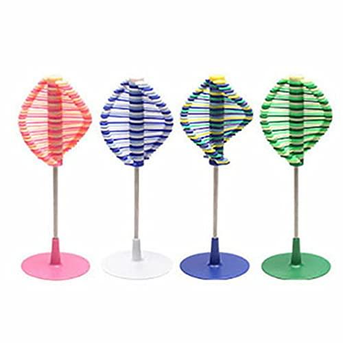 HehiFRlark Twirl Spinning Kinetic Fidget Toys Stress Reliever Giratorio Lollipop de plástico