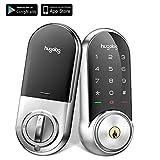 Hugolog Smart Lock,Touchscreen Deadbolt Remote Wireless Control & Bluetooth Keyless Door Entry Easy Installation and Program Includes Gateway Satin Nickel